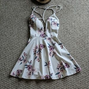 Bridal Shower Dress - White Floral
